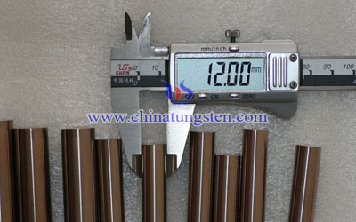 Tungsten Copper Rod of 12x200mm