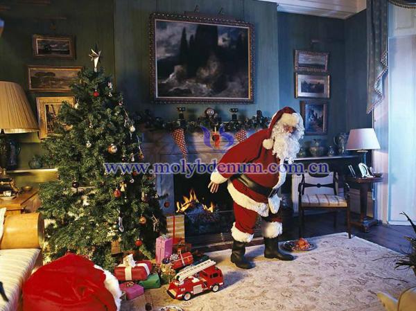 Santa Claus Put The Gift Into Socks