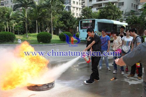 China Tungsten's Fire Safty Training