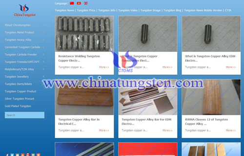China Tungsten's Website for PAD